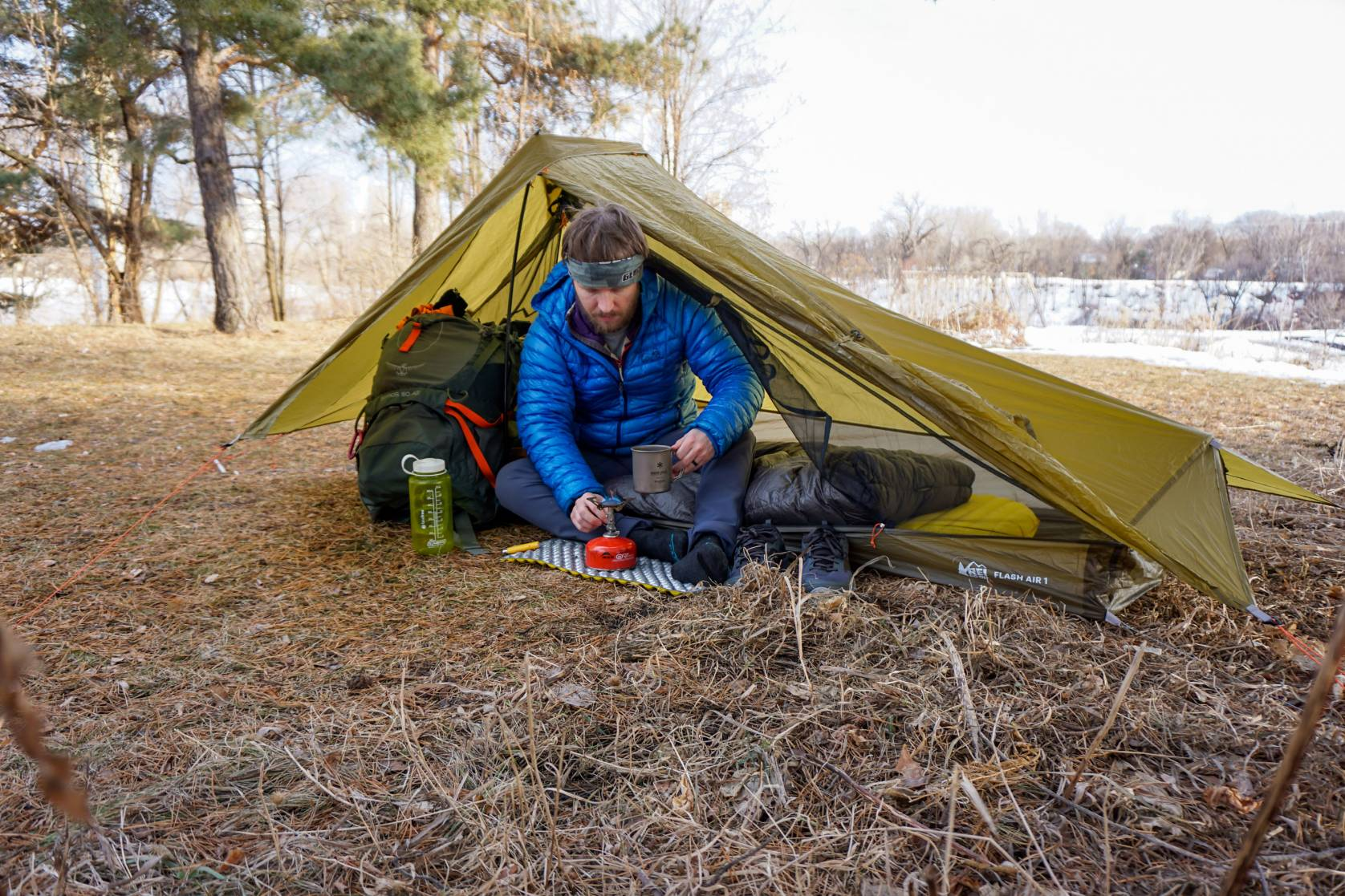 REI Flash Air 1-Person Ultralight Backpacking Bikepacking Camping Tent