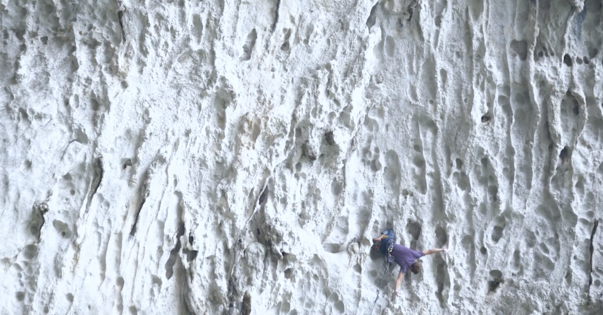 An 870-Stair Approach: This Limestone Climbing Is Insane | GearJunkie
