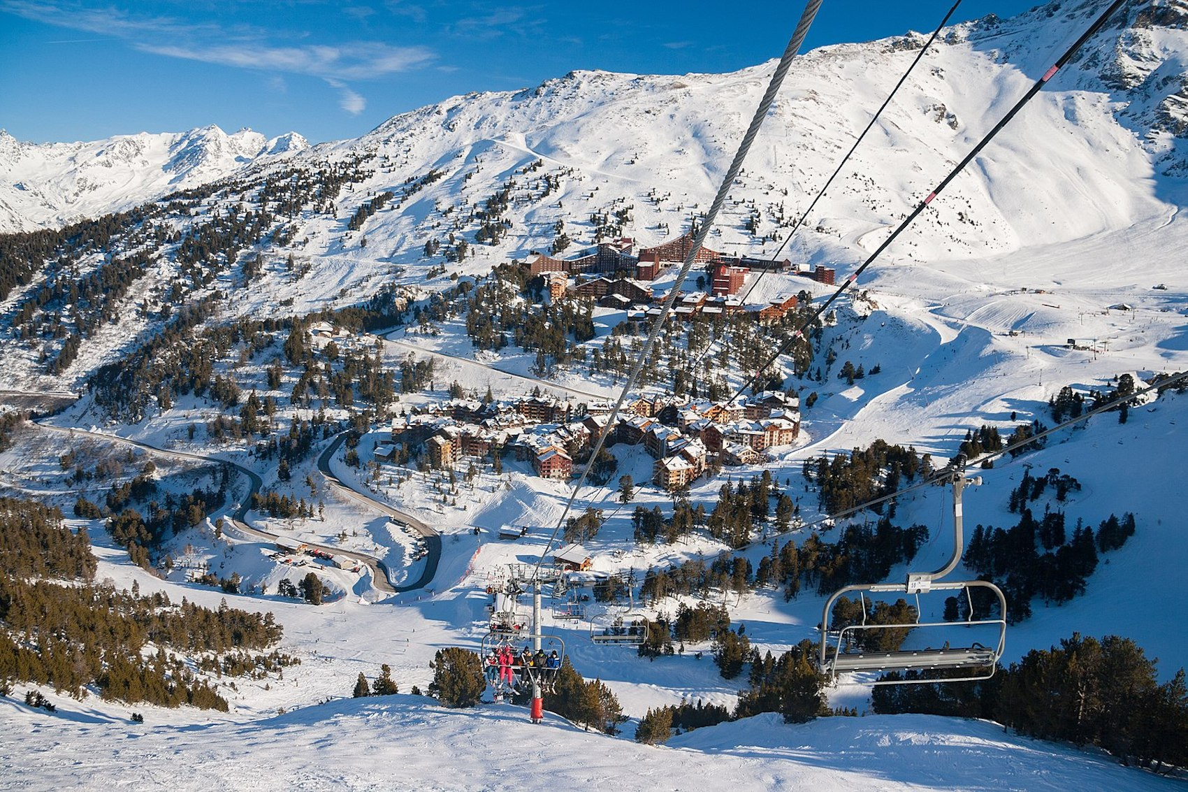 Montchavin skiing France