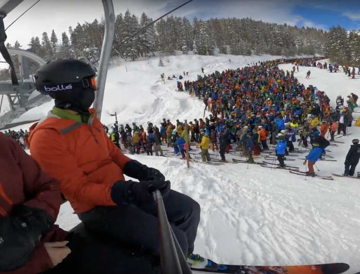 Craziest Lift Line Ever? This Might Be It