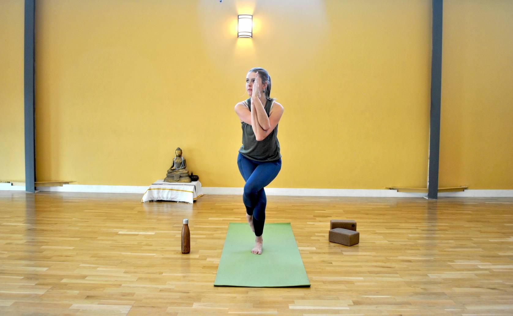 Mary yoga eagle pose