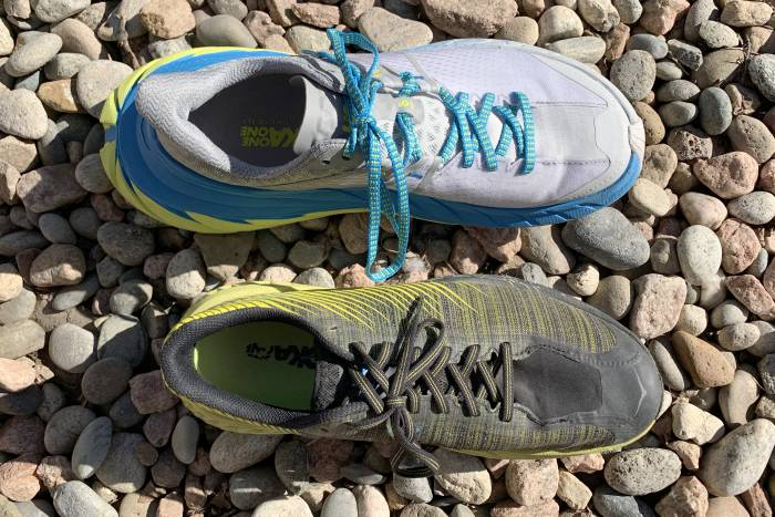 HOKA TenNine heel comparison