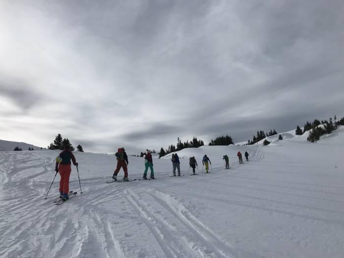 backcountry skiing on Berthoud pass