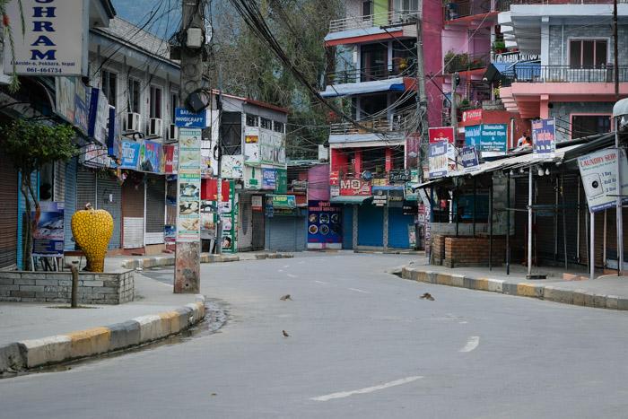 empty street in Nepal