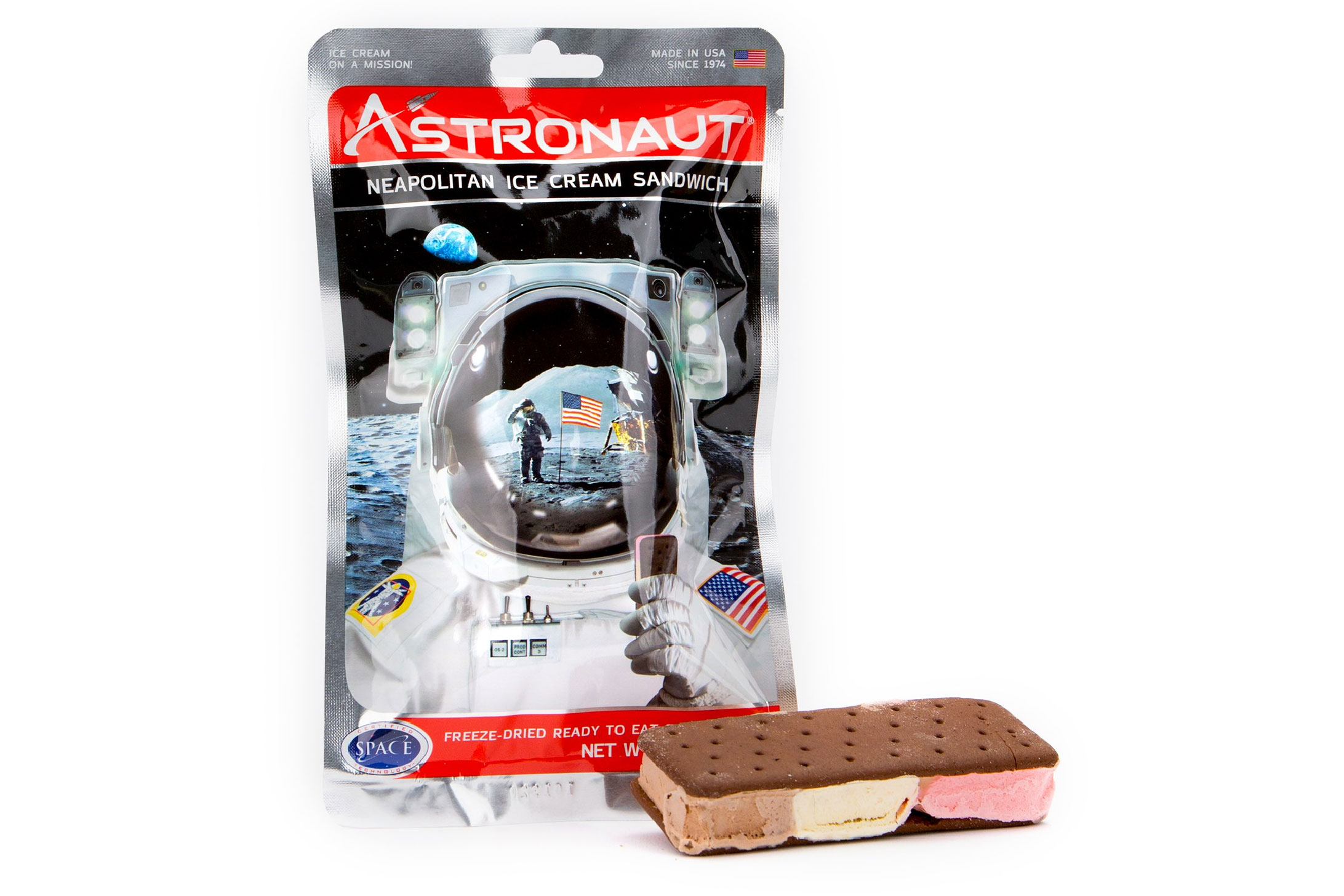 backpacker's pantry astronaut neopolitan ice cream sandwich
