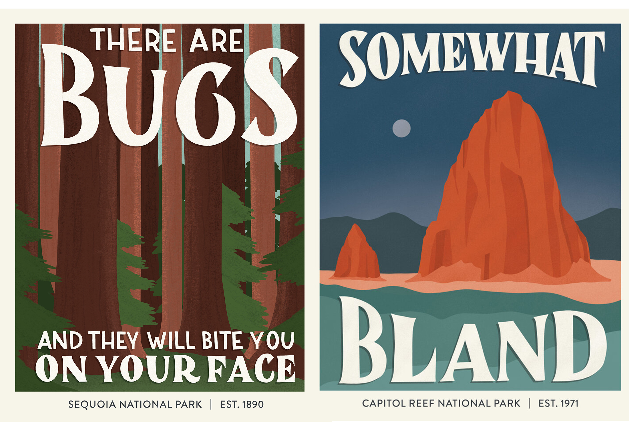 Hilarious Posters Illustrate Terrible National Park Reviews Gearjunkie