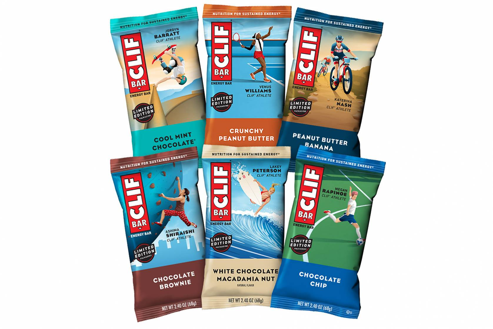 Clif Bar female athlete wrappers