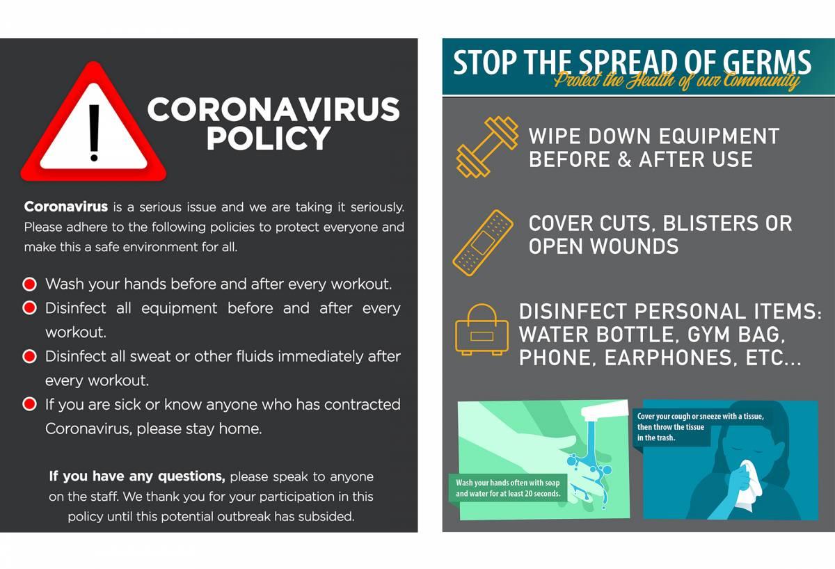 coronavirus poster policies