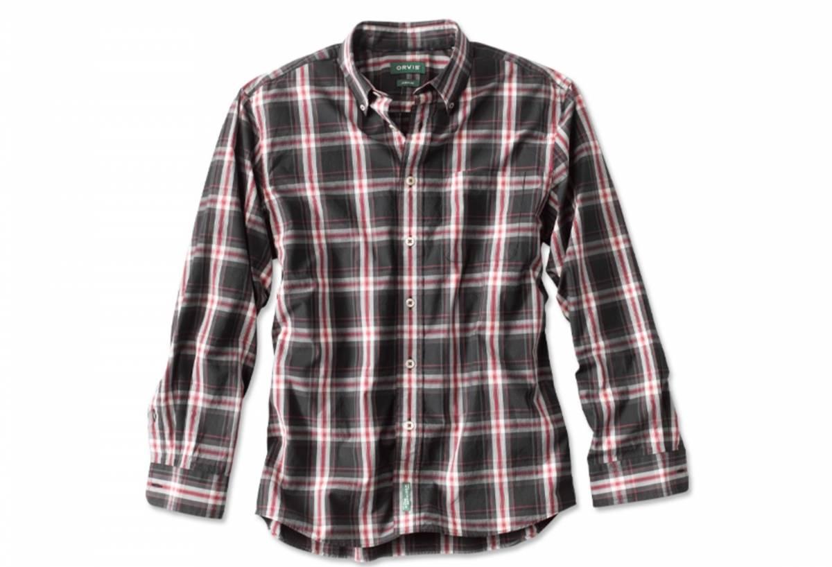 orvis poplin plaid shirt