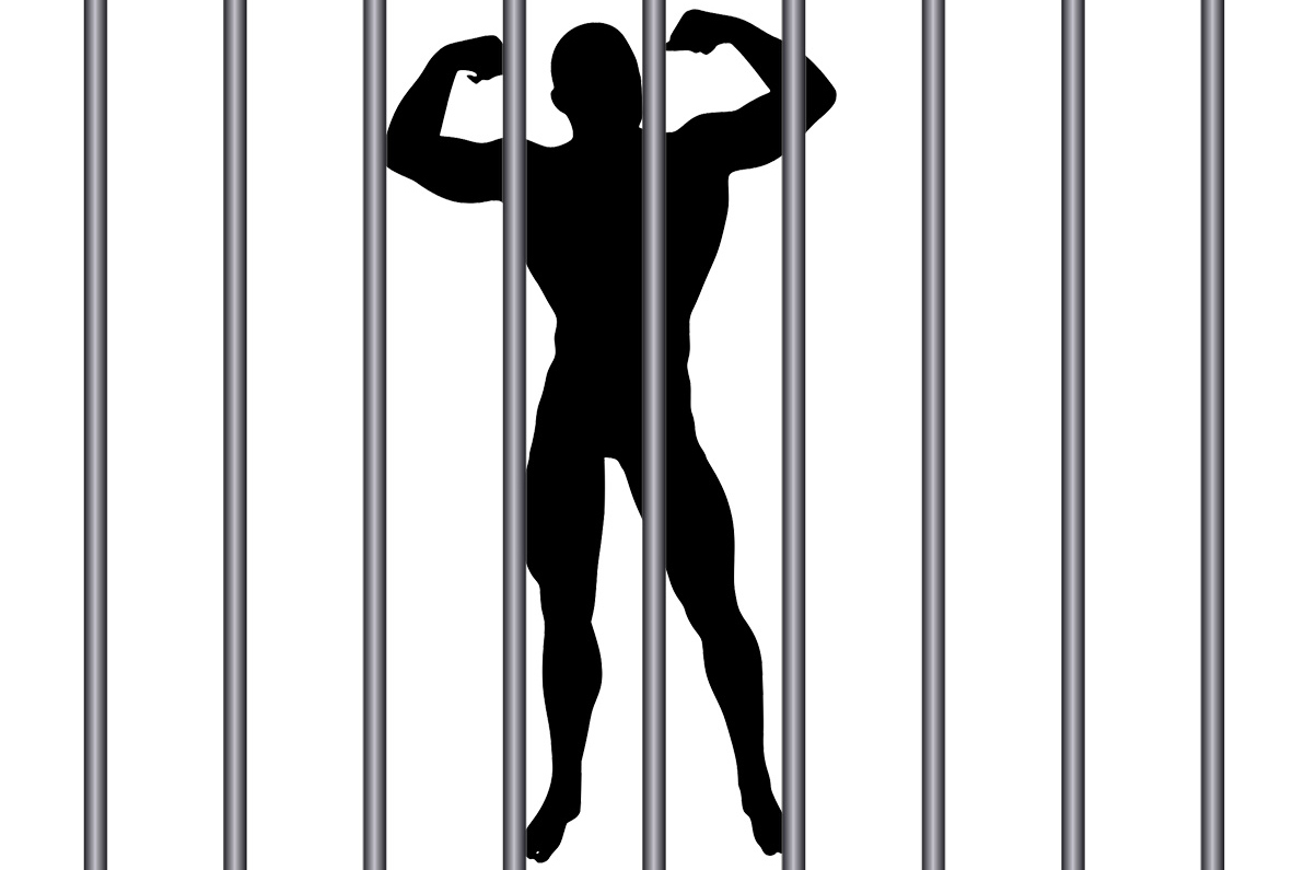 Prison muscle fitness illustration