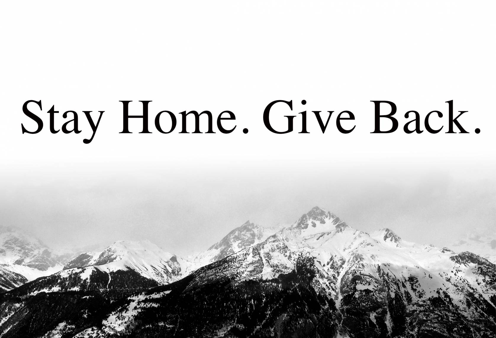 stay home, give back statement