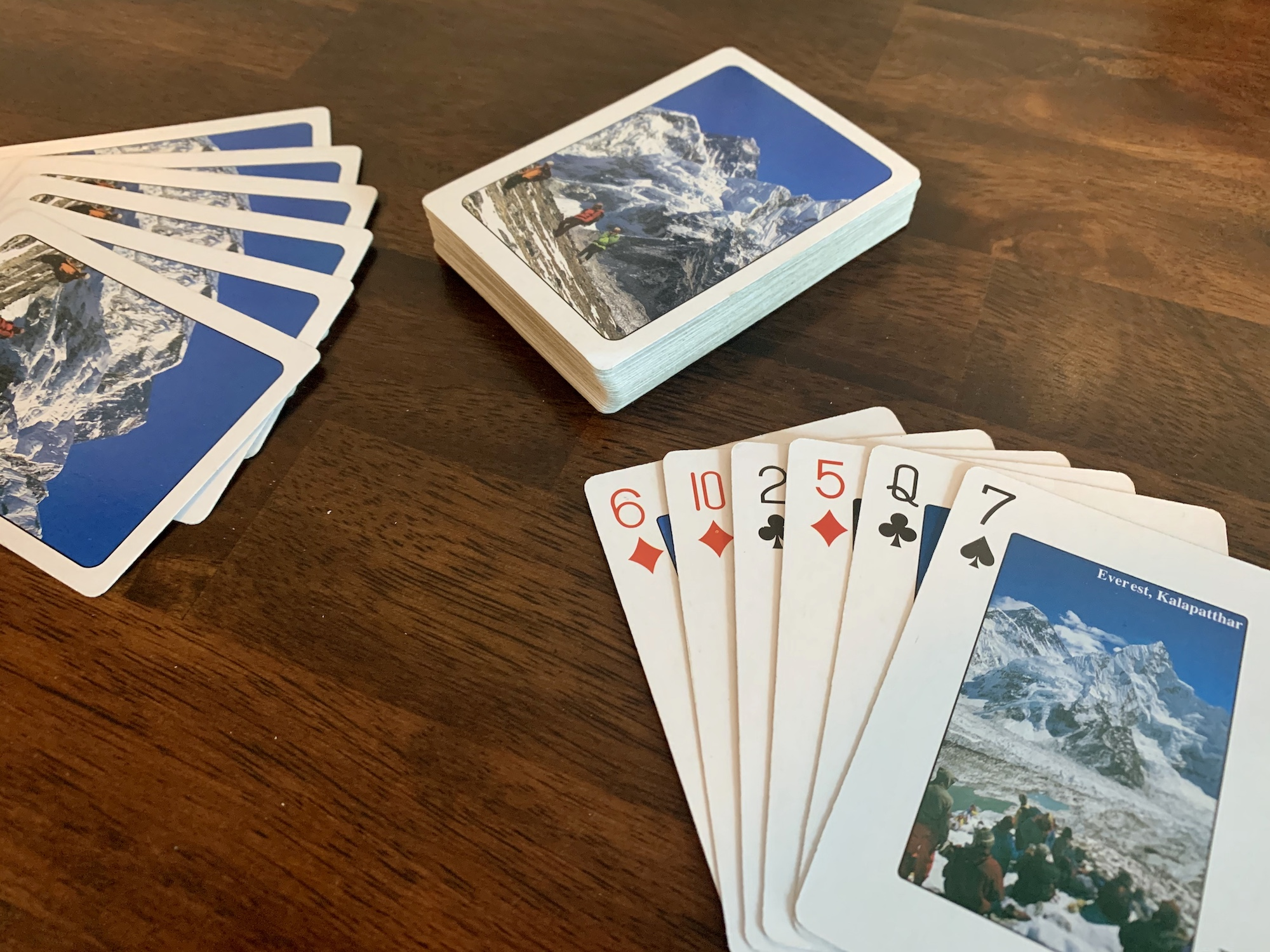 Mt. Everest playing cards