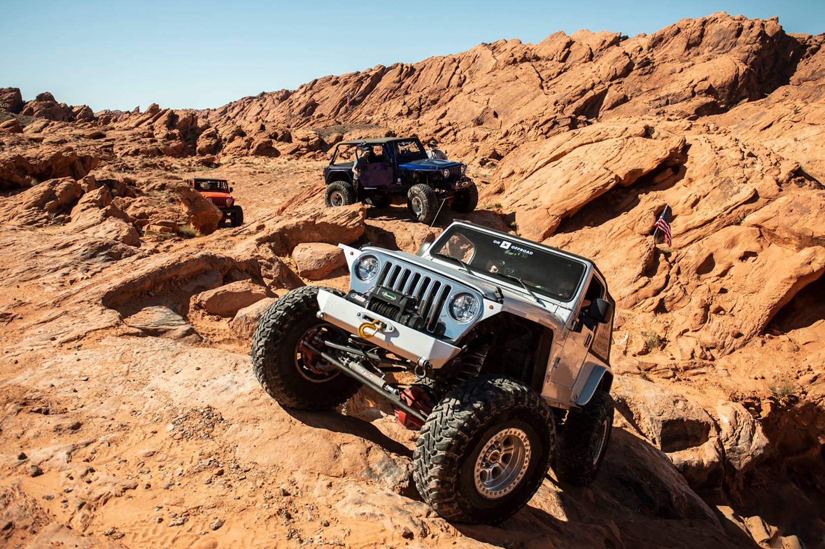 Jeep off-road rock crawling