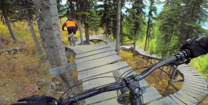 Slippery and Demonic: Riding 'Vertical' Black Diamond Bike Trails