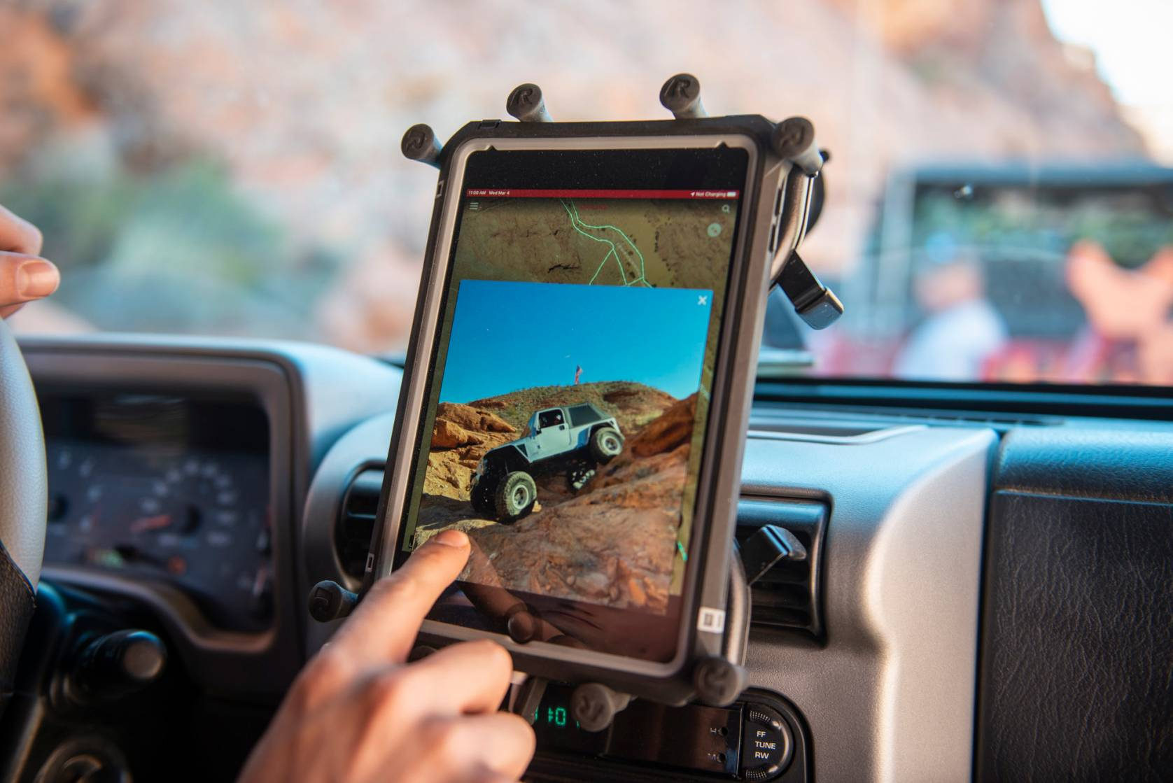 onX Offroad maps ipad Jeep
