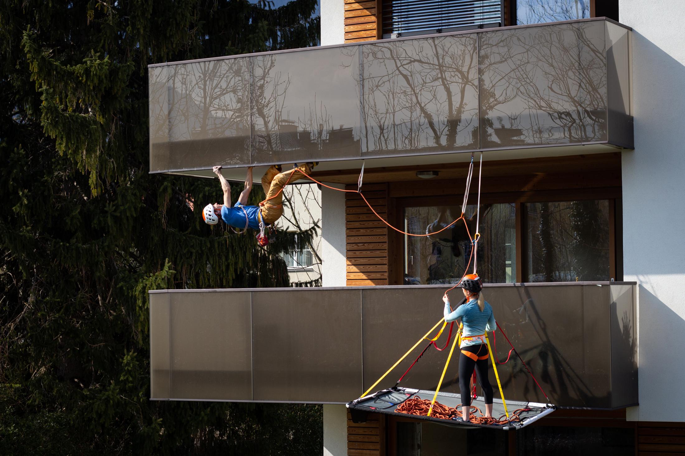 Katharina Saurwein balcony portaledge
