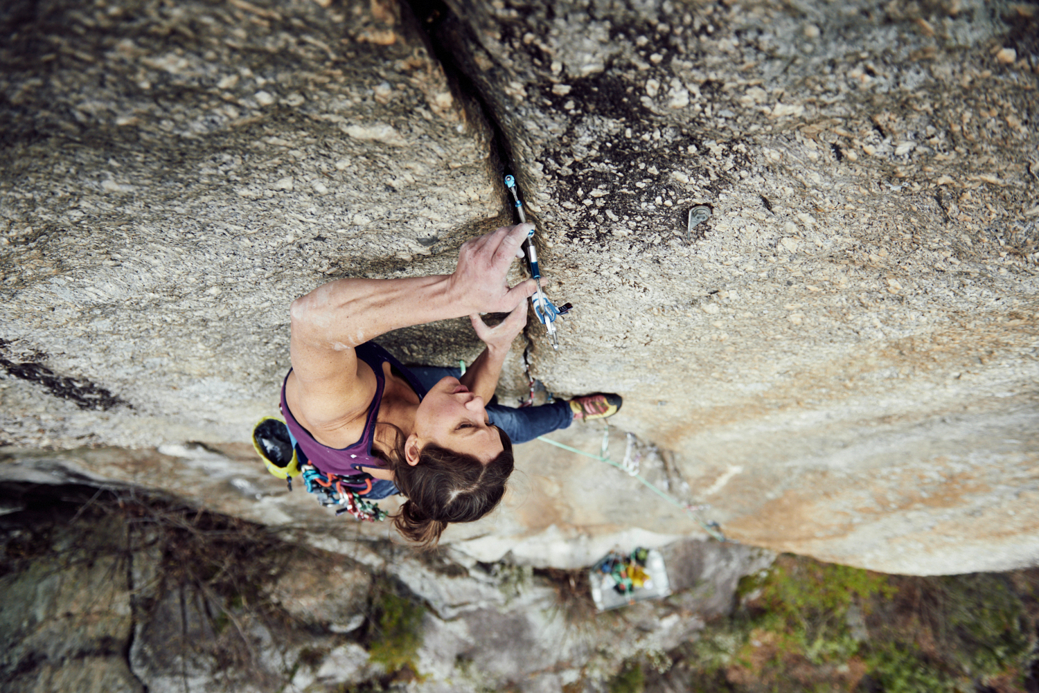 Wild Country Zero Friend cam in crack woman climbing