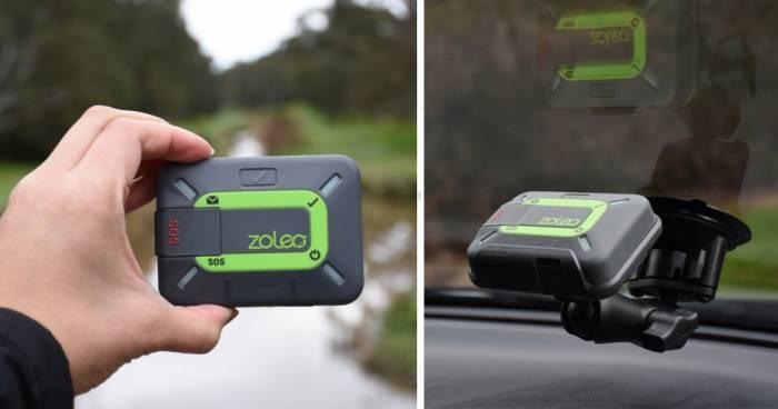 Zoleo satellite communicator in use