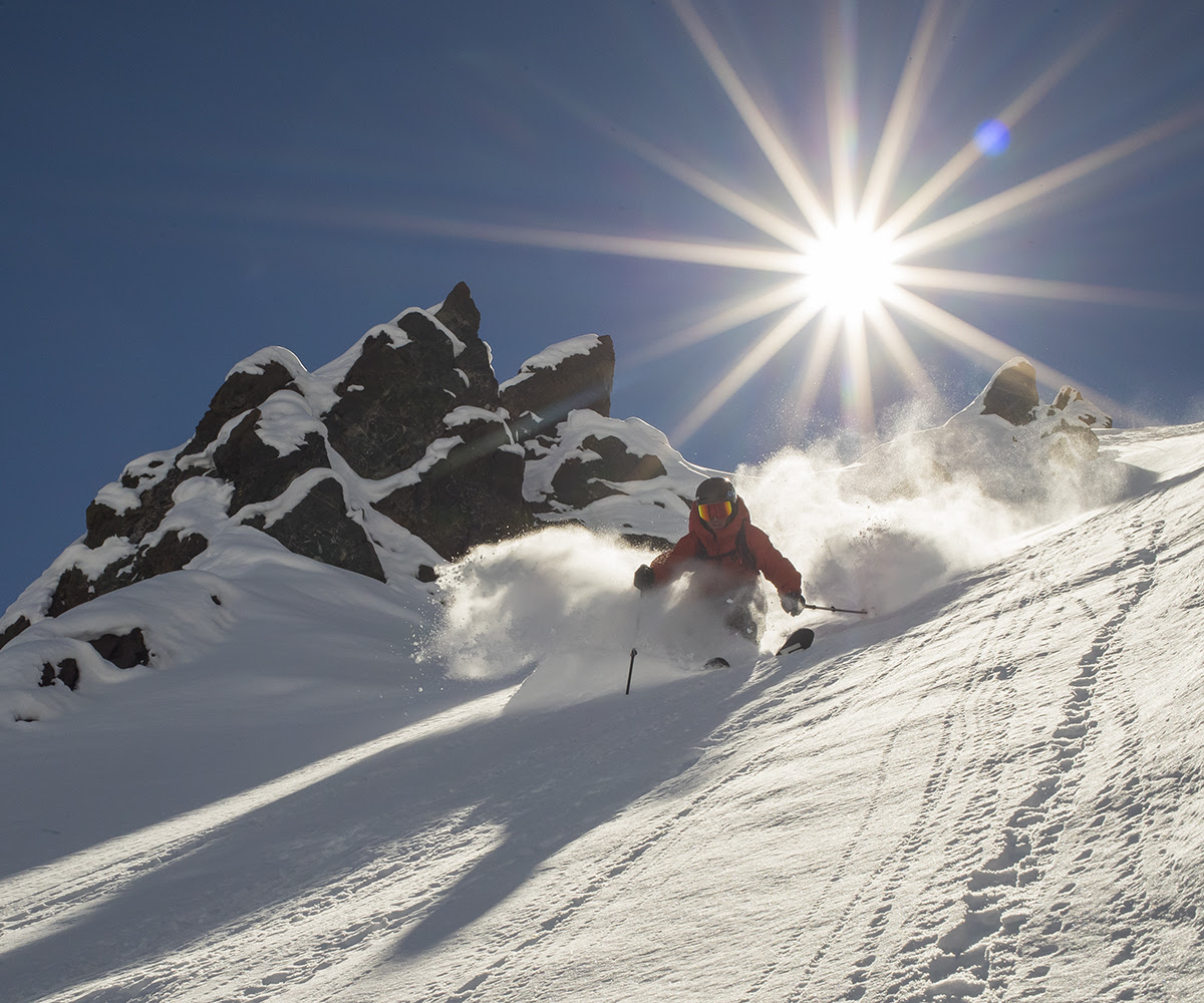 John Bukack heli skiing with Valle Nevado Heli in the Chilean Andes.