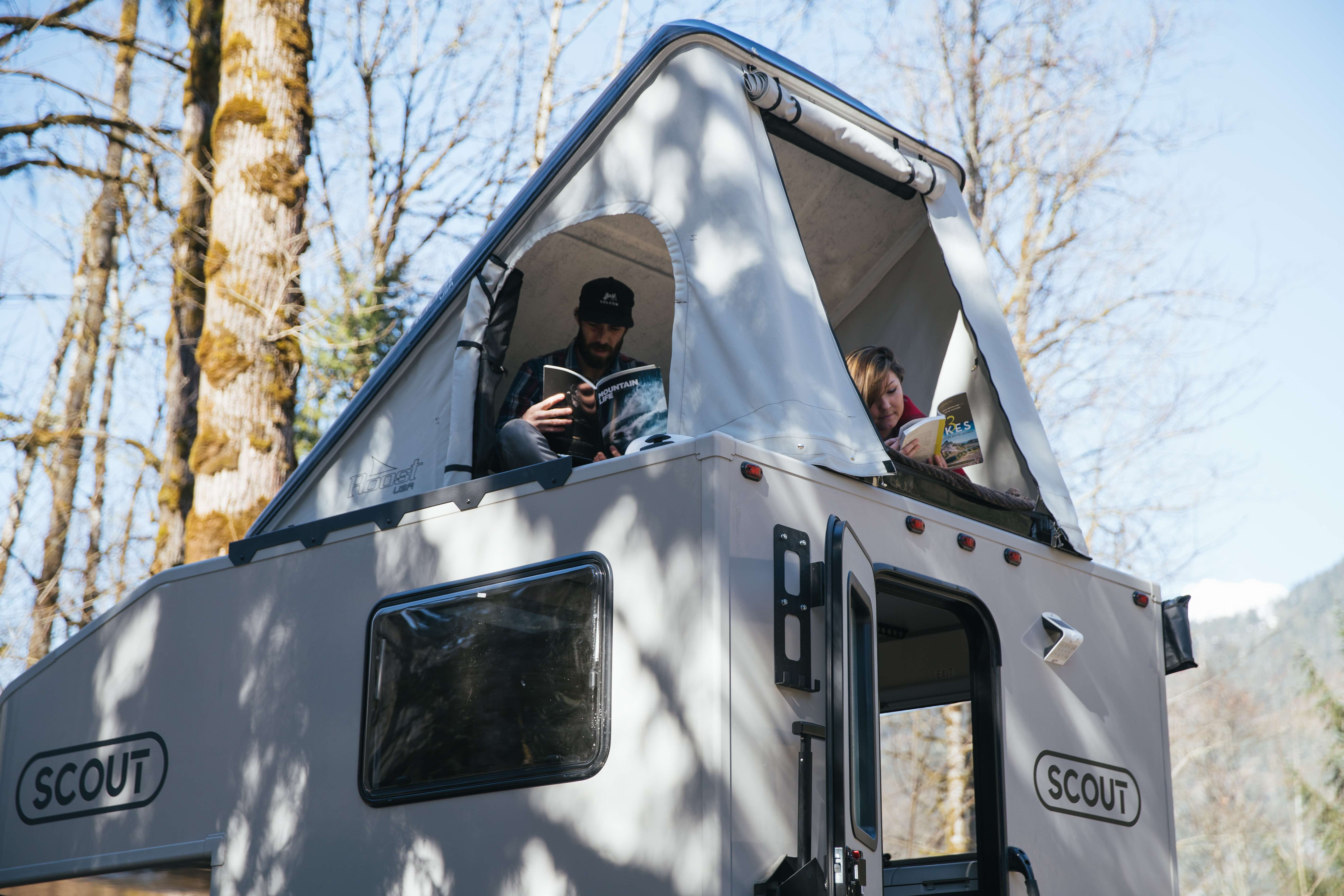 Scout Camper with rooftop tent