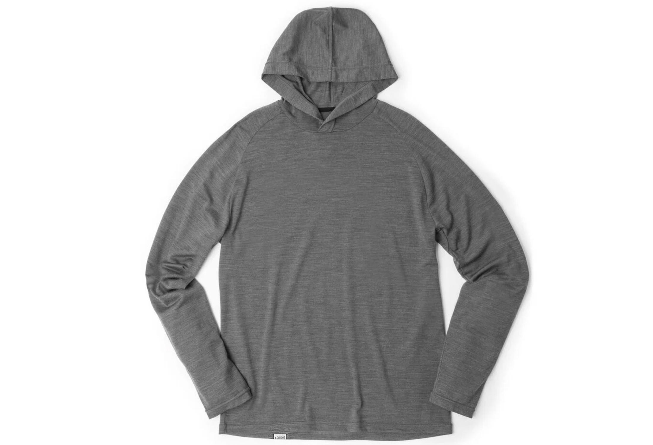 chrome merino hoodie