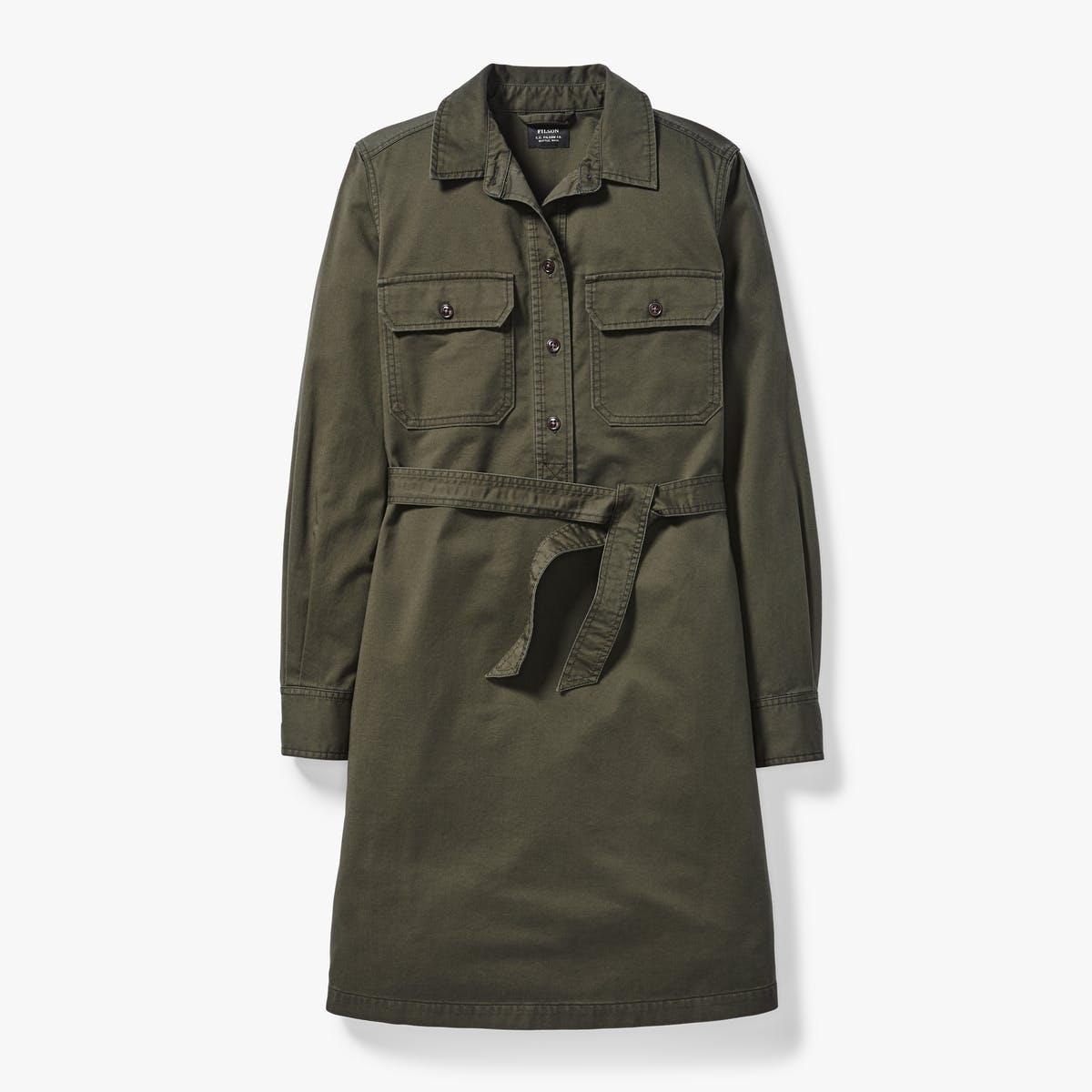 filson colville long sleeve shirt dress