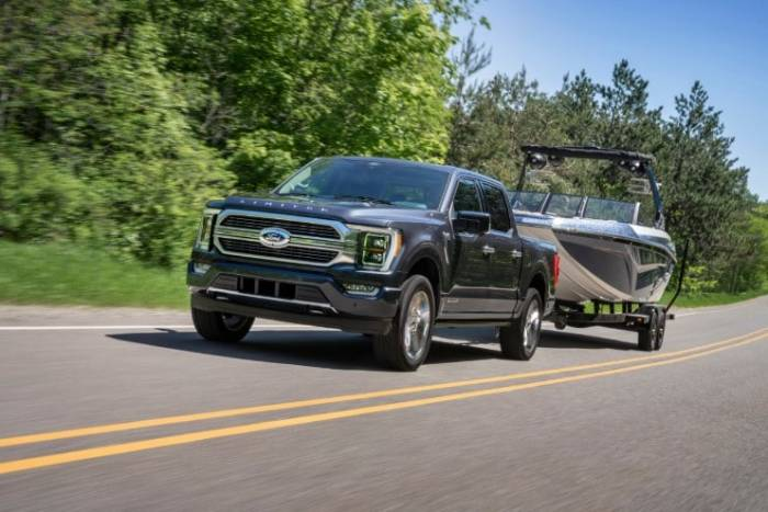 2021 F-150 towing
