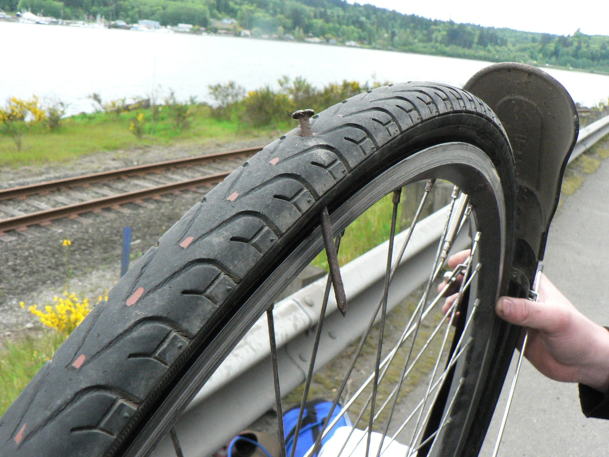 bike flat tire