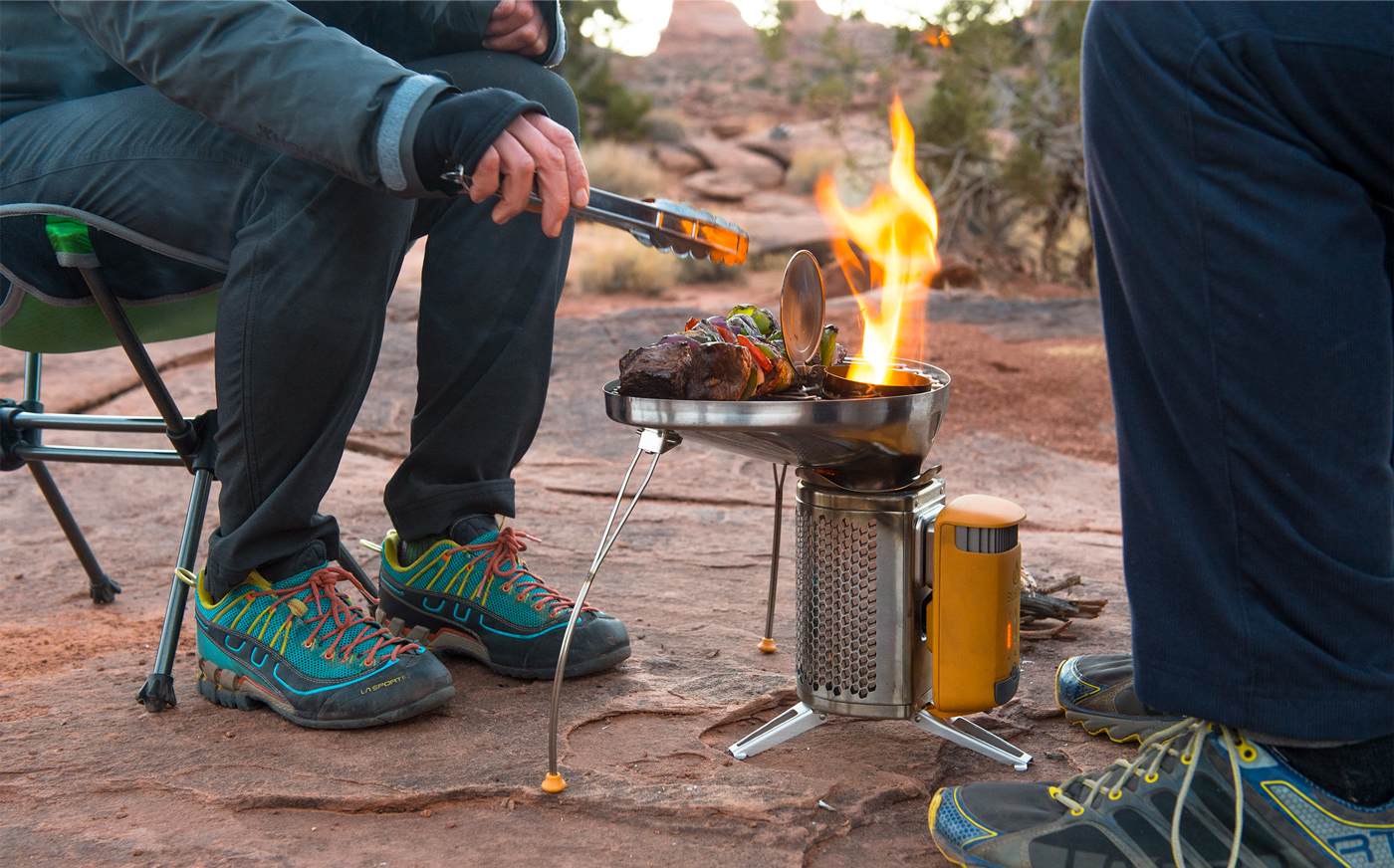 Camping and Cooking on the BioLite Stove