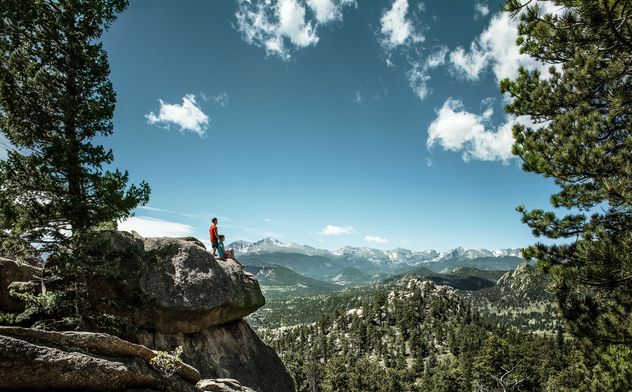 Couple Hiking Estes Park