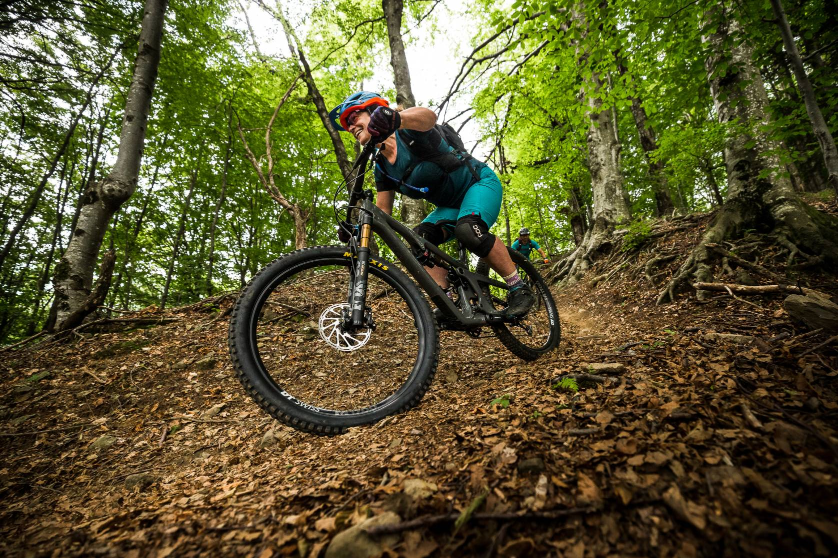 mountain bike riding Yeti SB140 Slovenia