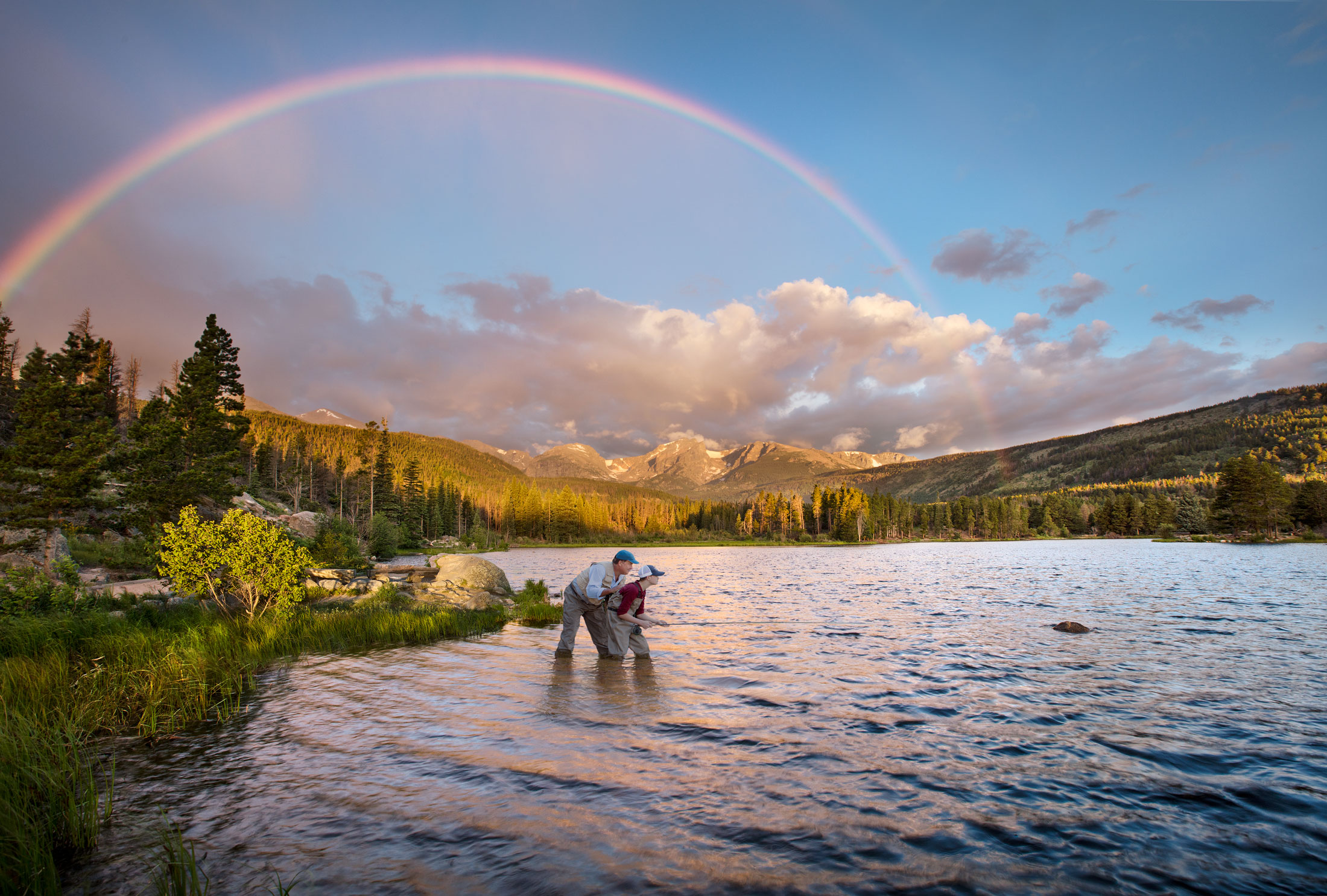 Estes Park Fishing Rainbow