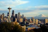 Mount Rainier over Seattle