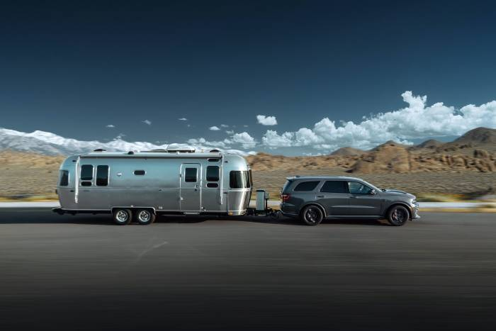 durango srt hellcat towing airstream