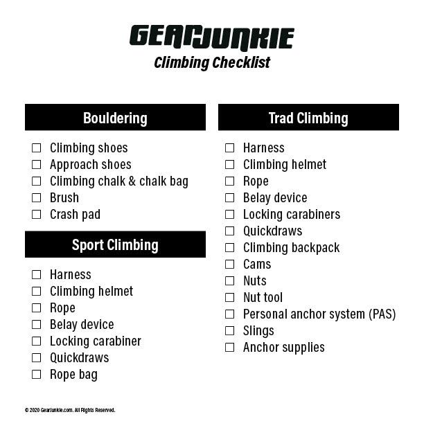 GJ 2020 Climbing Checklist