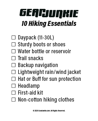 GJ 2020 Hiking Essentials Checklist