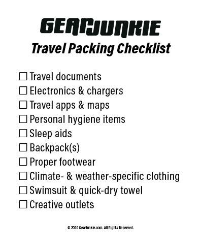 GJ 2020 Travel Packing Checklist