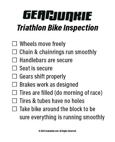 GJ 2020 Triathlon Bike Inspection Checklist