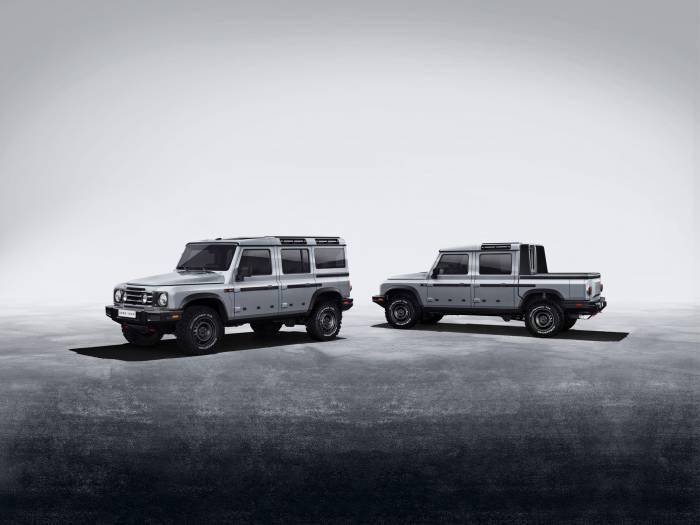 INEOS Grenadier suv wagon and double cab pickup