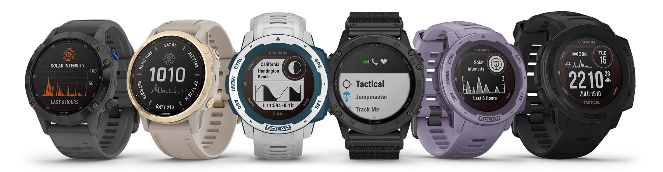 Garmin Instinct Solar smartwatch models