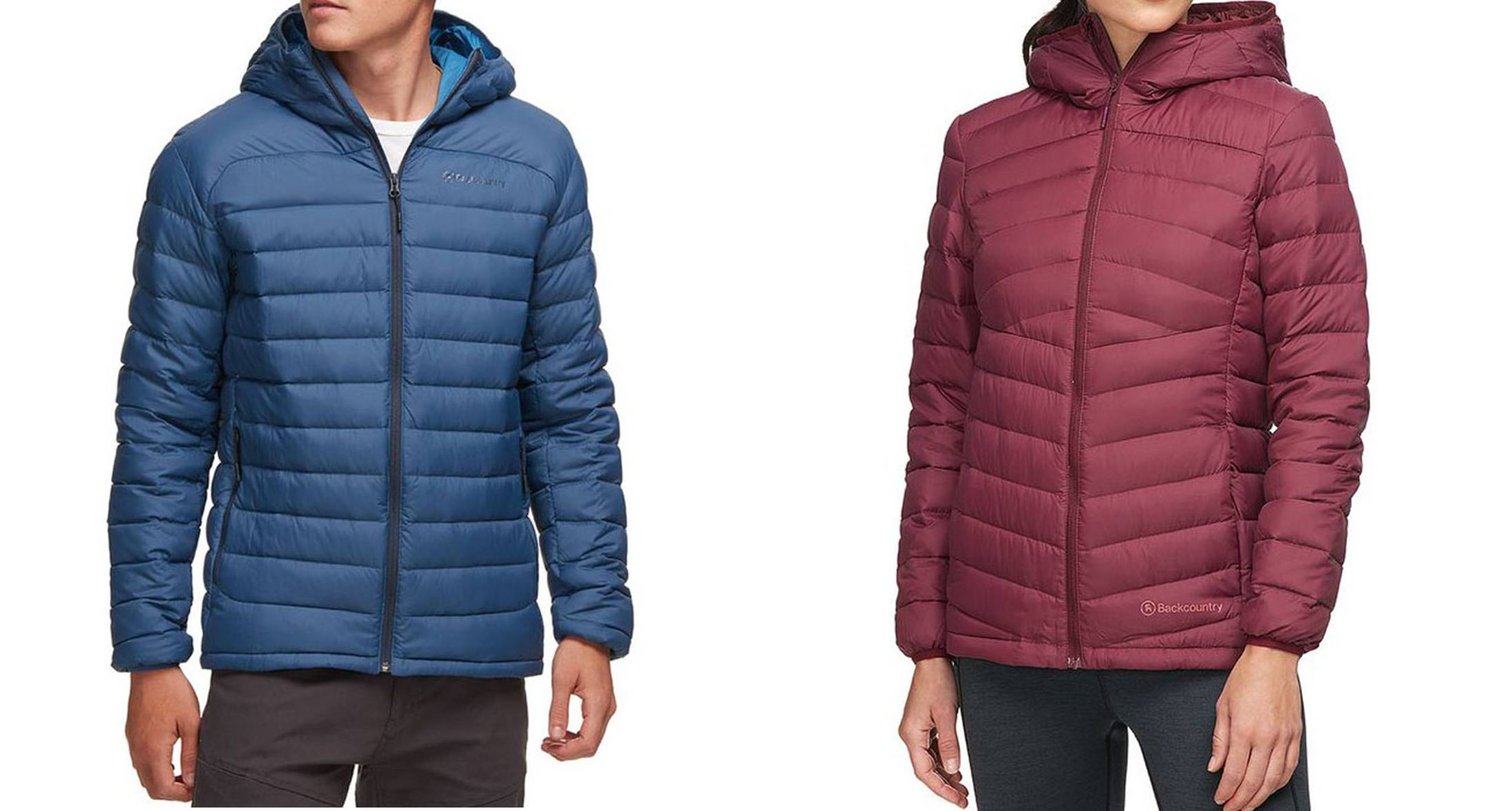 Men and Women's Backcountry Silver Fork 750 Hooded Jackets