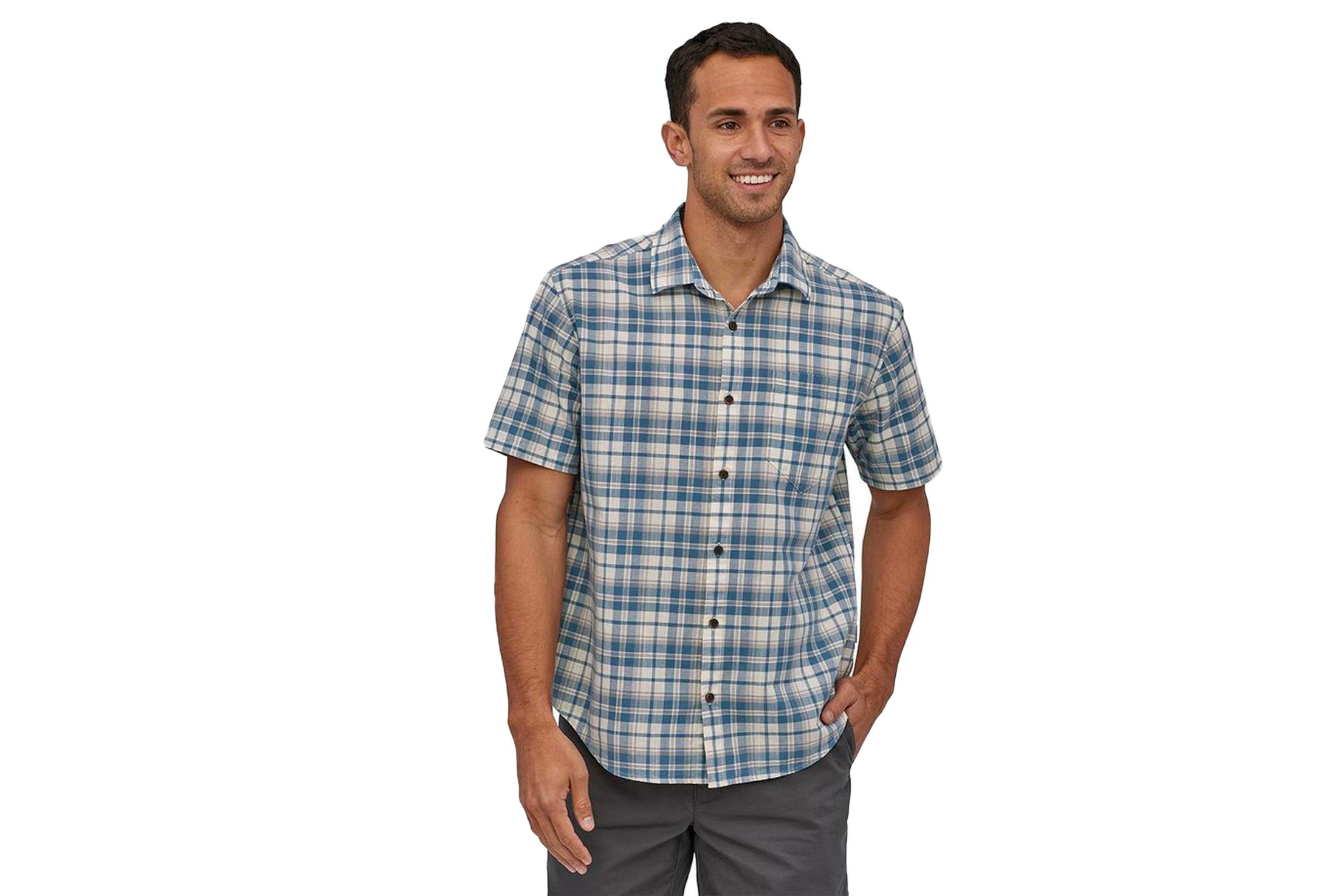 Patagonia Organic Cotton Slub Poplin Shirt —Men's