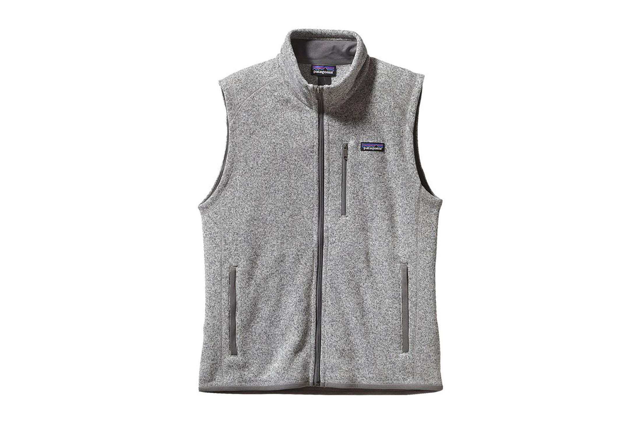 Grey sweater fleece vest