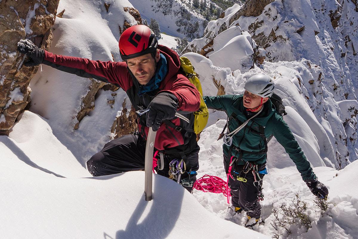 People Mountaineering and Climbing in Black Diamond Gear