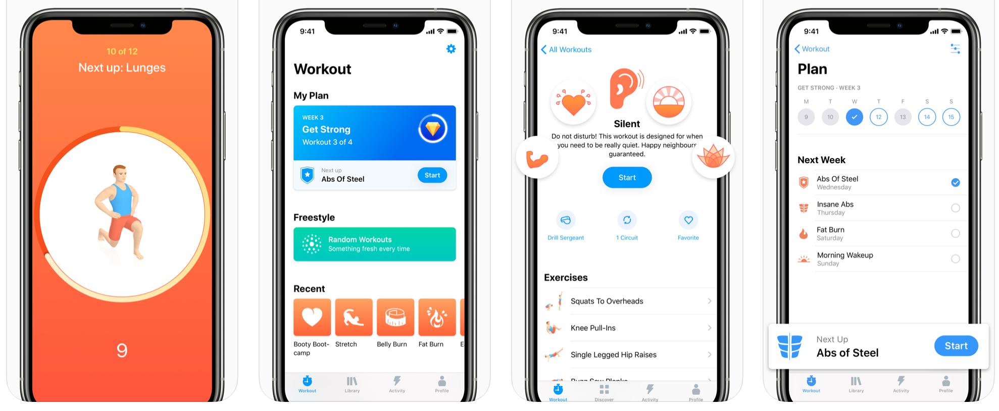 Seven free workout app