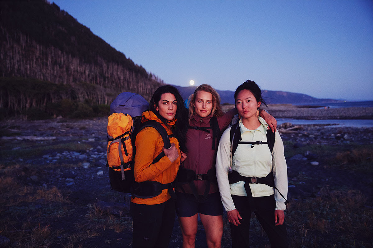 Women Hiking and Backpacking in Arc'teryx Gear