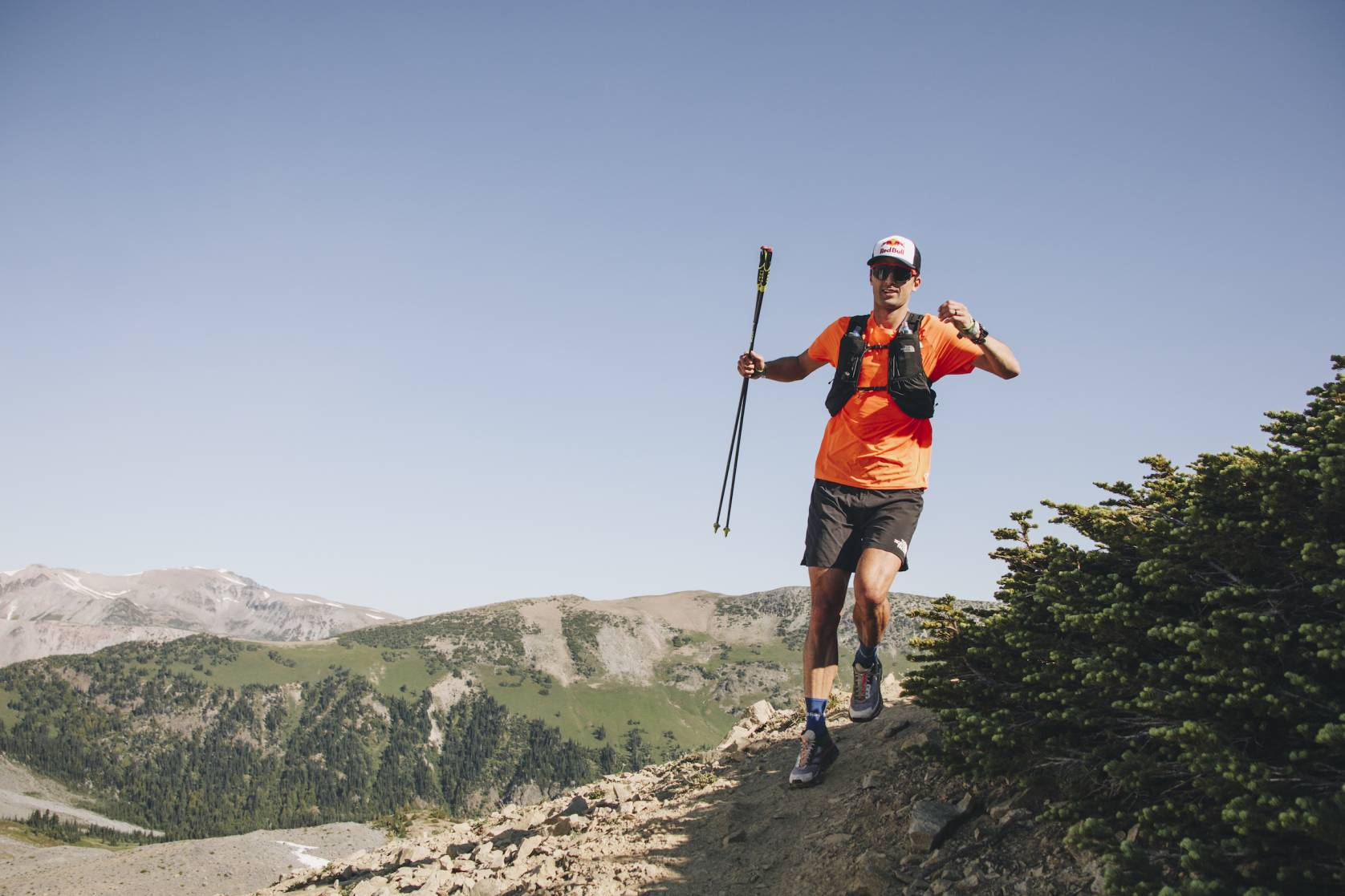 Dylan Bowman running Mt. Rainier
