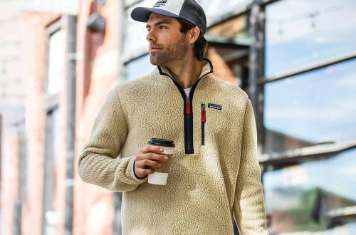 man in patagonia fleece jacket