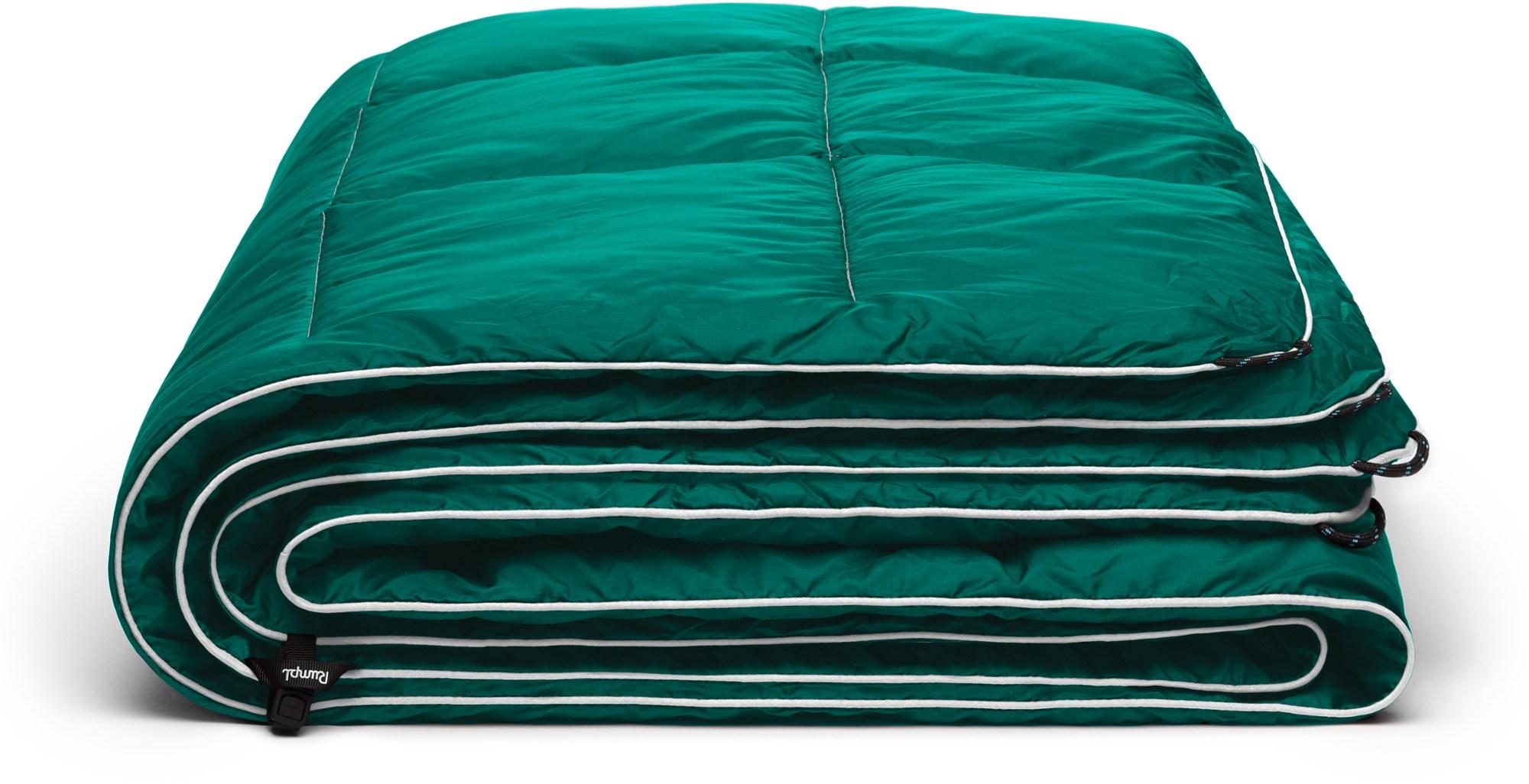 rumpl green nano puffy blanket
