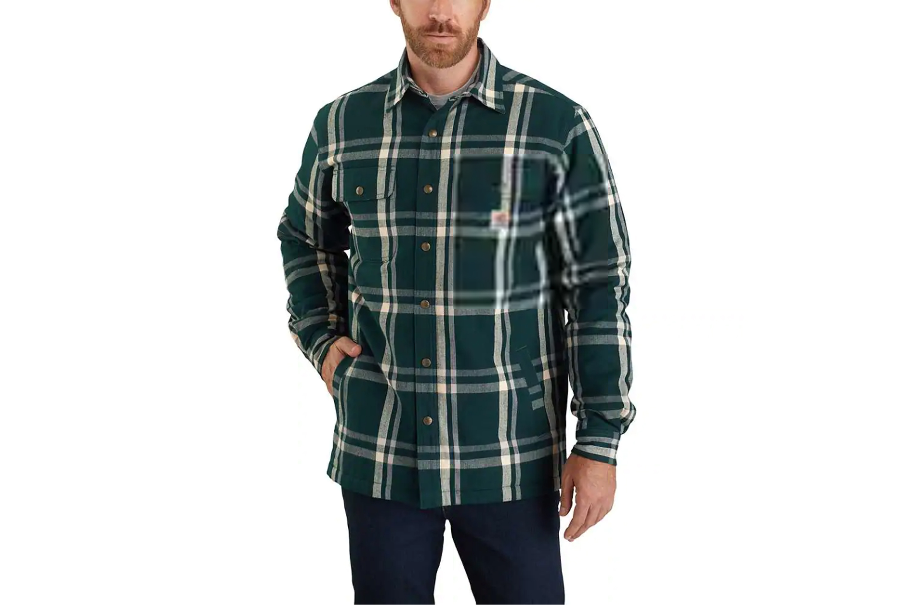 Best Budget_Carhartt_Flannel_Sherpa_Lined_Snap_Front_Plaid_Shirt_Jac